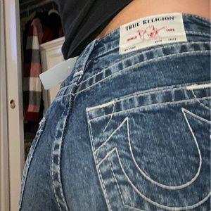 True religion high-rise shorts
